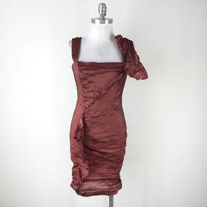 Nicole Miller 8 Rust red sheath dress Cocktail